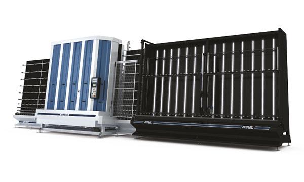 Isolatieglaspers met gasvulling APG Forel – Machine pour verre isolant avec remplissage de gaz