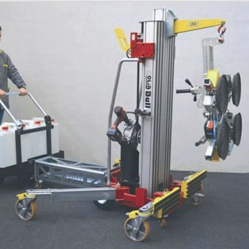 lifting trolley with vacuum device