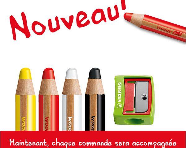 Nouveau! Woody 3-in-1 crayon
